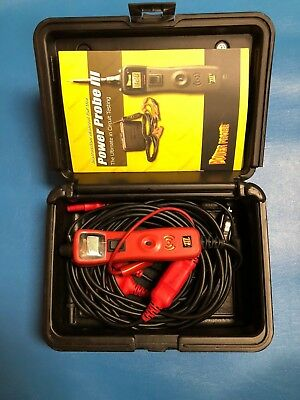 Power Probe 3 III PP319FTCRED Red Powerprobe Kit w/Voltmeter and Accessories USE