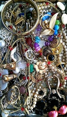 Huge Vintage & Now Jewelry Lot Estate Find Junk Drawer UNSEARCHED UNTESTED#Lust*