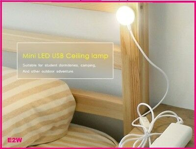Portable Light Camping Travelite USB LED ceiling Desk Reading Lamp Light Warmwht