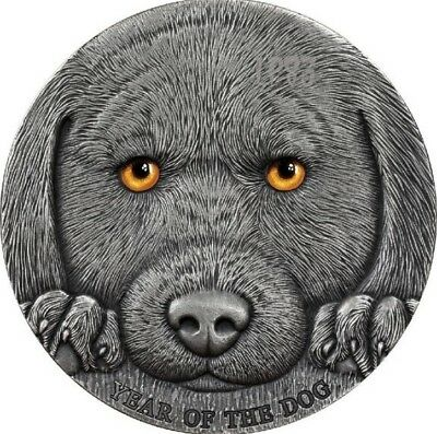 2018 3 Oz Silver 3000 Francs YEAR OF THE DOG Chinese Lunar Coin, Cameroon.
