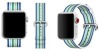 Genuine Apple 38mm Blue Stripe Nylon Band Strap for Apple Watch MRHA2AM/A NEW