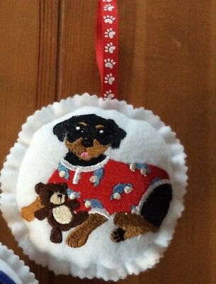 Custom Embroidered Rottweiler Christmas Ornament