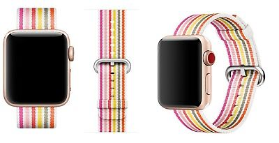 Genuine Apple 38mm Pink Stripe Nylon Band Strap for Apple Watch MRH82AM/A NEW
