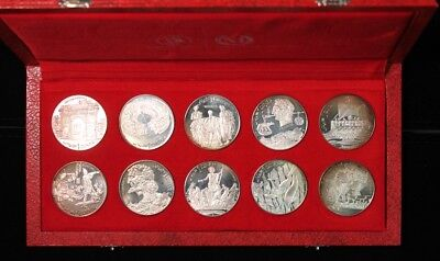 1969 Tunisia Proof Set Dinar Franklin Mint Numismatica Italiana