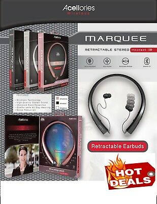 ACELLORIES WIRELESS RETRACTABLE BLUETOOTH In-ear HEADPHONES