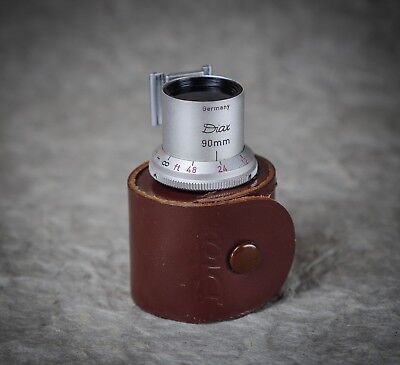 DIAX 90mm Telephoto Finder for Rangefinder Cameras with Original Leather Case