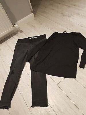 New Look maternity jeans and top size 12