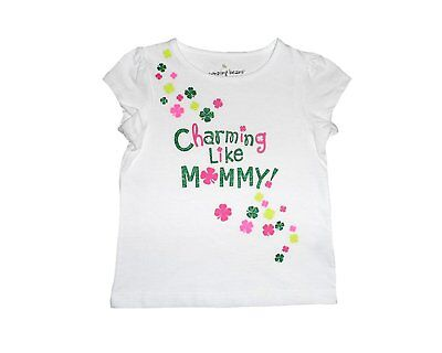 Jumping Beans Toddler Girls' Charming Like Mommy St. Patrick T-Shirt - Size 2T