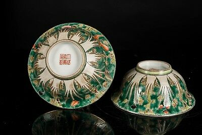 19th Chinese Antique Jiaqing Period Antique Famille Rose Bowls CB1476AU