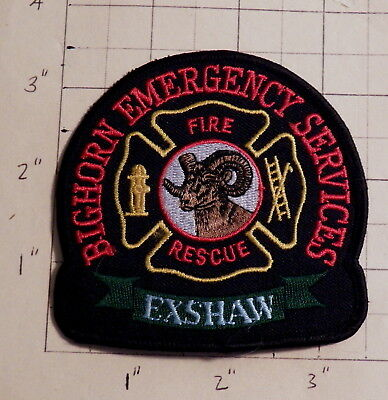 Exshaw - Bighorn (AB,Canada) Emergency Services Fire & Rescue Patch