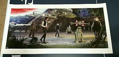 Star Wars celebration EXTREMELY RARE art print David R,  2014, 39/58
