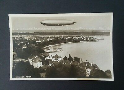 """RARE 1931 In Flight Print from Photo Post Card of """"Graf Zeppelin"""" Overall GC"""