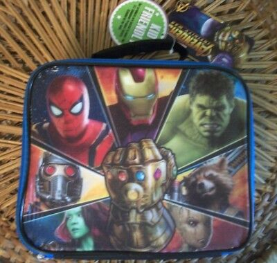 "NWT Marvel ""AVENGERS INFINITY WAR"" Lunch Box, Vinyl Top w/Soft Sides & Back"