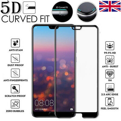 5D Full Cover Tempered Glass Screen Protector For Huawei Honor V10, P20 p9 lite