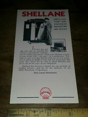 1920s-30s Vintage SHELLANE Small Advertising One Sheet Both Sides LPG Shell Oil