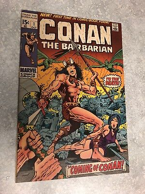Conan the Barbarian #1 (Oct 1970, Marvel) First Appearance of Conan Key Issue