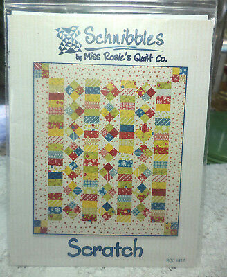 "Schnibbles By Miss Rosie's Quilt Co. Quilt Pattern ""scratch""~"