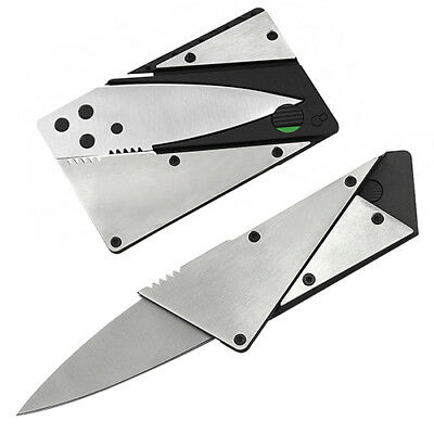 Strong Steel Outdoor Credit Card Thin Cardsharp Folding Pocket Knife Camping BB4
