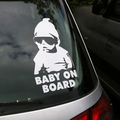 Silver Baby On Board Hangover Baby Sticker Safety Vinyl Decal