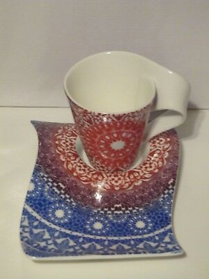 Villeroy & Boch New Wave Caffe Cup/Mug and Party Plate Germany New Set