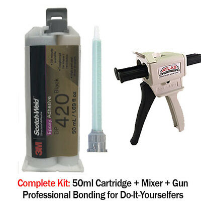 3M ScotchWeld DP420 Black 20 Min Toughened Epoxy-50ml + Dispenser