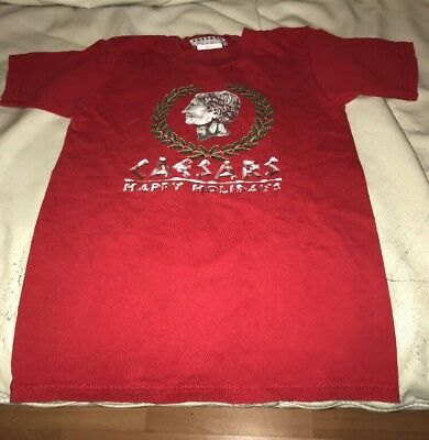Caesars Palace Las Vegas Casino T Shirt Children Small Christmas Happy Holidays