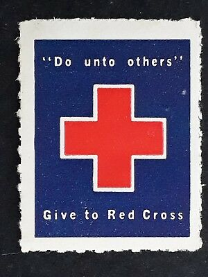 "c1940's Australia ""Do unto Others"" Give to the Red Cross Cinderella mint"