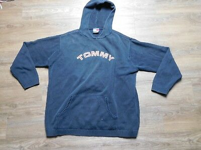 VINTAGE 90S TOMMY HILFIGER spell out HOODIE SWEATER youth XL