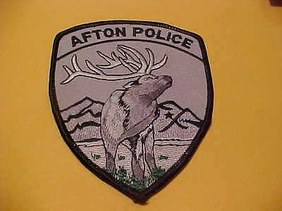 Afton  Wyoming  Police Patch Shoulder Size Unused