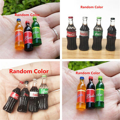 1:12 Miniature Dollhouse Sprite Drink Fanta Figure Coca Cola Bottle Decor Random