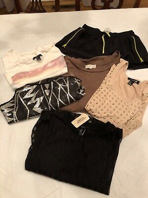Forever 21 Bundle Shirts and Shorts Sizes Small and Medium and Large