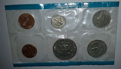 1971 USA  Mint UNCirculated coin set in cello 2 x 1c incl 'S', 5c 10c 25c 50c