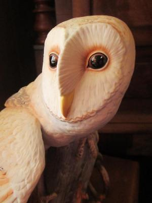 THE BARN OWL by George McMonigle ~ Stunning Franklin Mint Porcelain Statue