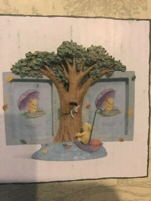 Clasic Pooh Winnie Double Frame Collection Rainy Day Piglet  Michael Company New
