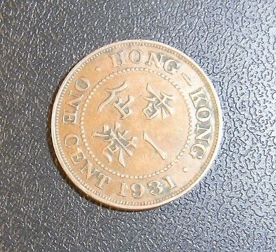 Hong Kong 1931 One Cent Penny