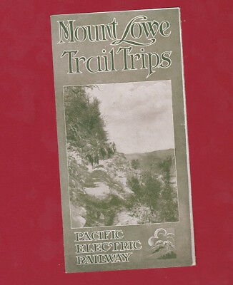 1913 Pamphlet Mount Lowe Trail Trips Pacific Electric Railway California