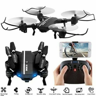 Pocket RC Quadcopter Wifi 0.3MP Camera Foldable 2.4G 6-Axis Drone Toys Pixel