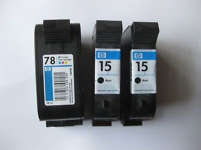 2 Used (Empty) Hp-15 Ink & 1 Used Hp-78 Cartridge. No Shipping To Address In Pa