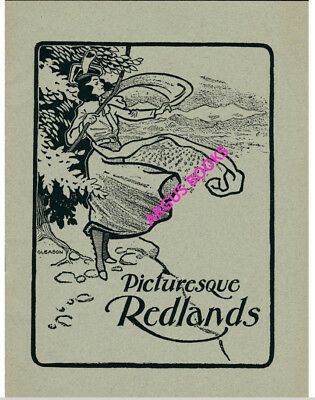 1901 Promo Pamphlet PICTURESQUE REDLANDS California SAN BERNARDINO COUNTY