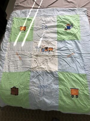 baby cot quilt-paddington Bear