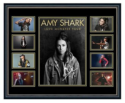 Amy Shark 2018 Love Monster Signed Limited Edition Framed Memorabilia