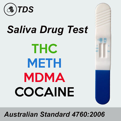 1-10 Saliva Drug Test Kit - THC, MDMA, METH & COC Drug Tests, Testing Kits