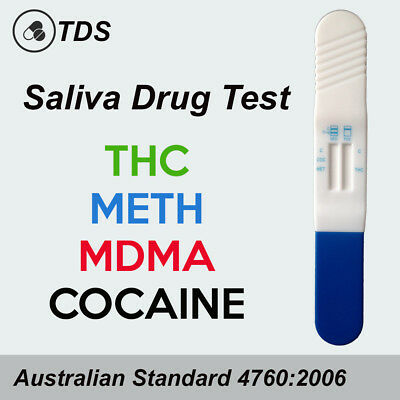 1-10 Saliva Drug Test - THC, MDMA, Methamphetamine & Cocaine Drug Tests