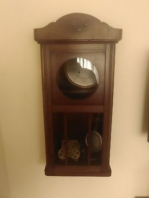 1930s Wall Clock Case And Mechanism
