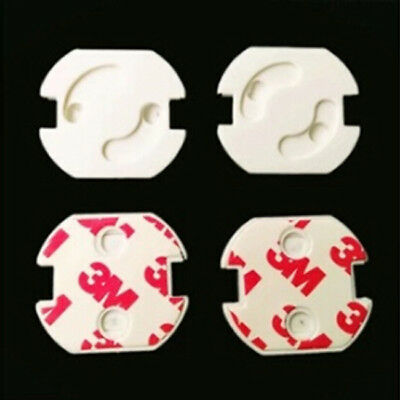 10pcs Baby Safety Rotate Cover Round  Against Electric Socket 2 Hole Z