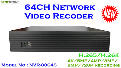 64CH NVR 1080P real time preview, Embedded Linux H.265 / Network Video Recoder