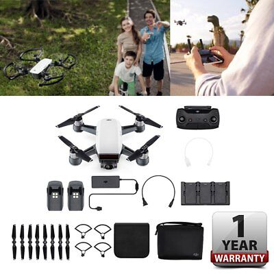 New & Sealed DJI SPARK Fly More Combo Portable Quadcopter Drone Alpine White UK