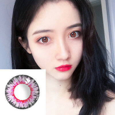 Multicolor Circle Colored Contact Lenses Yearly Use Big Eyes Makeup Tool Novità