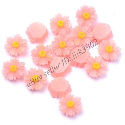 20Pcs Gorgeous pink Sunflower Coral Spacer Beads 12MM