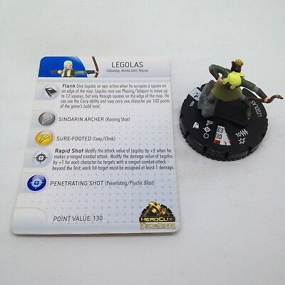 Heroclix Lord of the Rings set Legolas #004 Common figure w/card!
